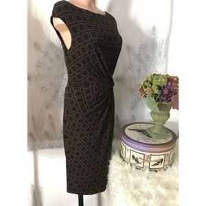 Ralph Lauren Sz 10 Stretch Knit Dress Fitted Cap